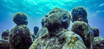 Diving Isla Mujeres Underwater Scuba Art Museum
