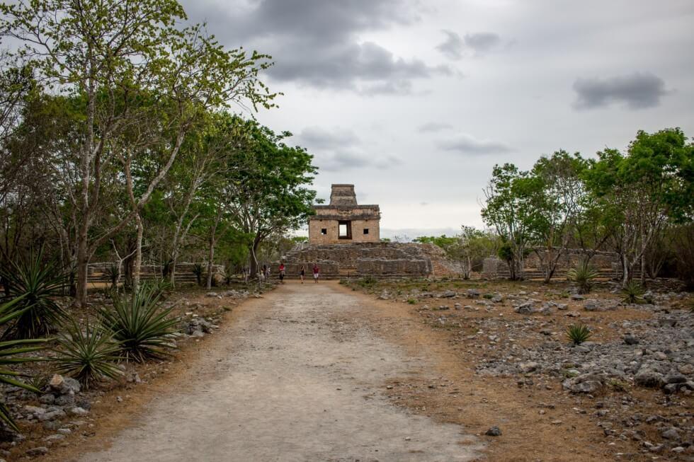 Dzibilchaltún ruins by Merida Mexico