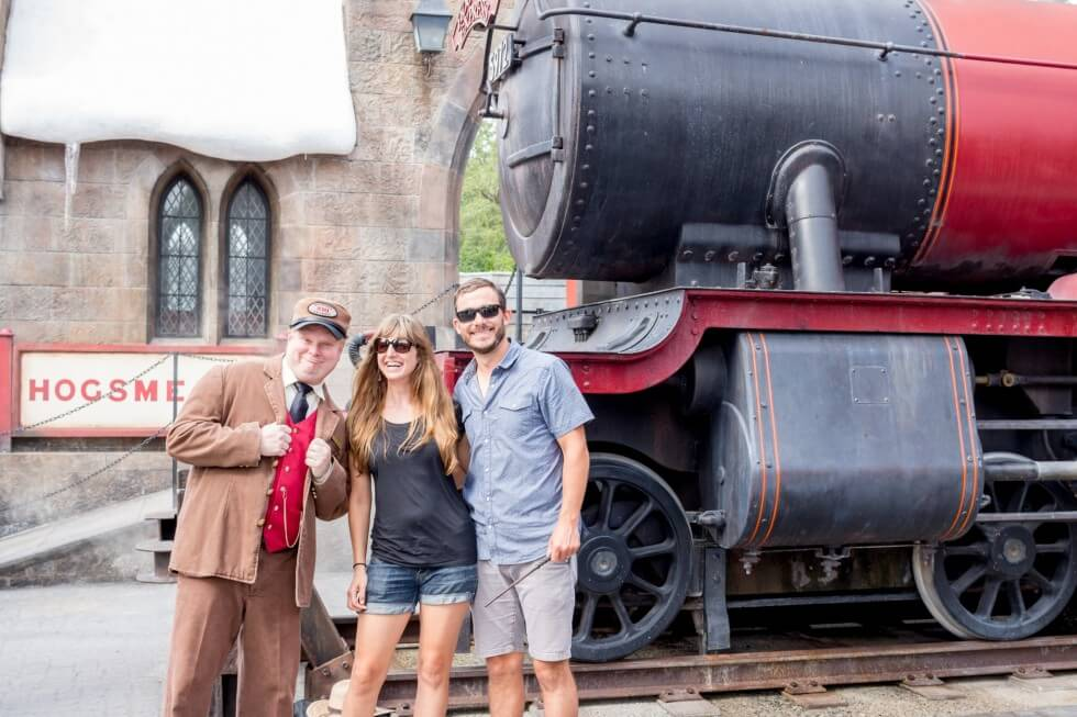 Conductor of Hogwarts Express Visiting Harry Potter World Orlando