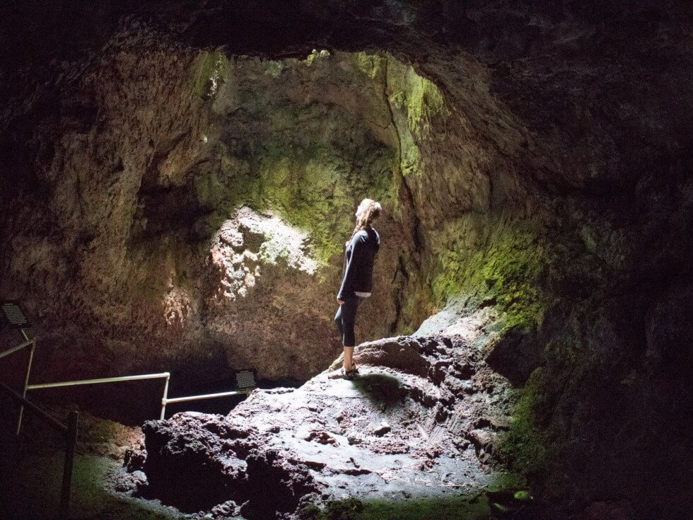 Jenny in the Hana Lava Tube