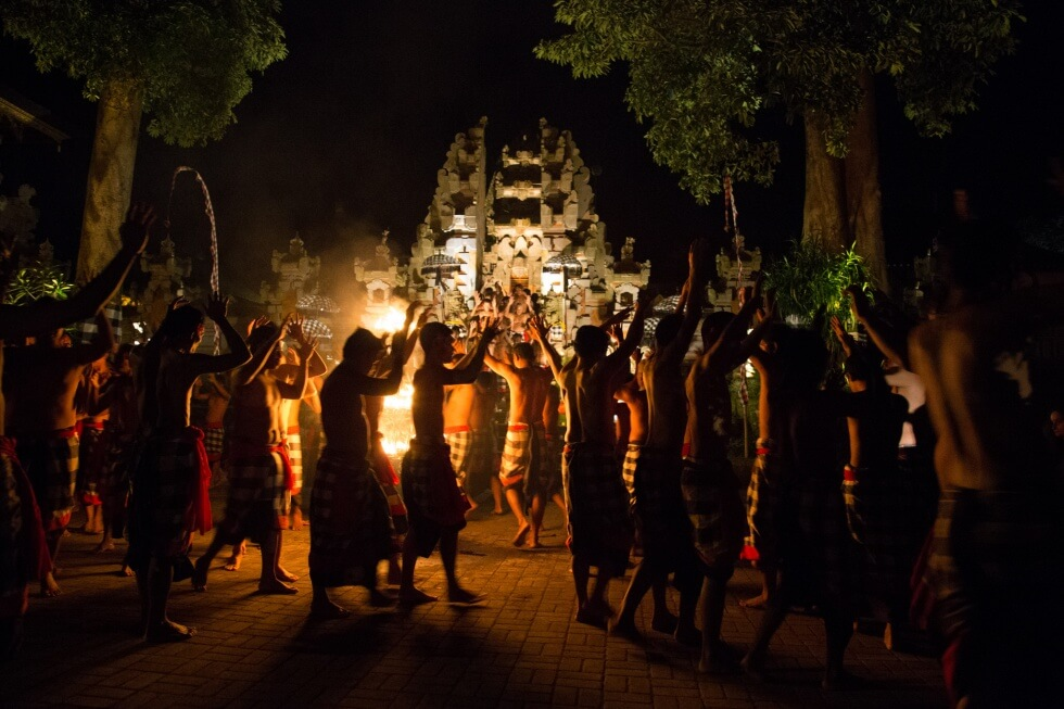 Amazing Junjungan Village Kecak Performance Ubud
