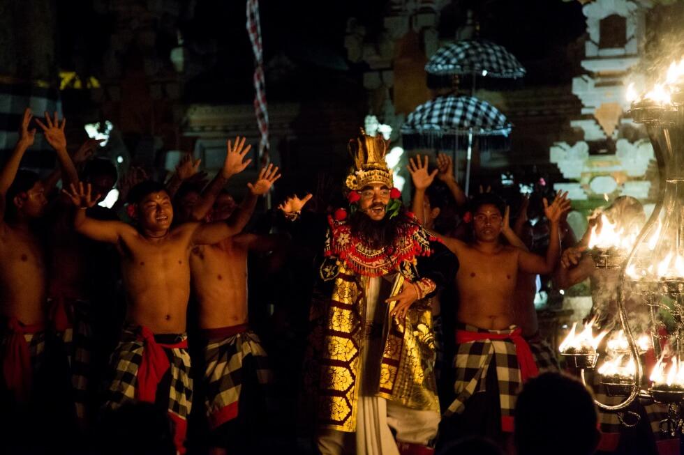 Battle Scene Junjungan Village Kecak Performance Ubud
