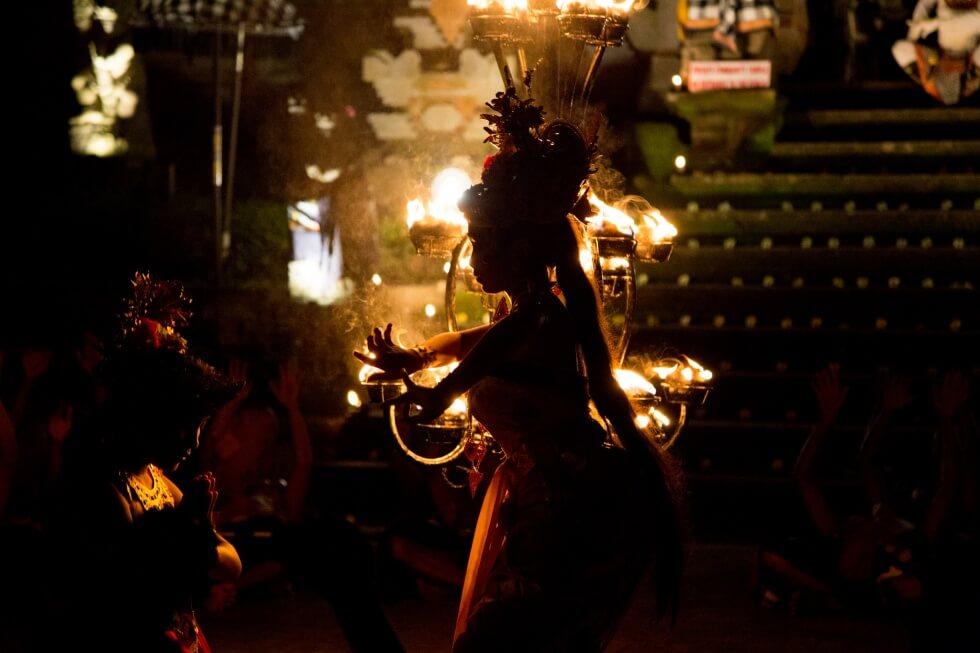 Beautiful Junjungan Village Kecak Performance Ubud